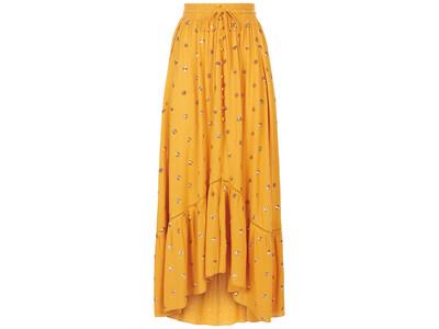 Mustard Breathless Trance Waves Skirt