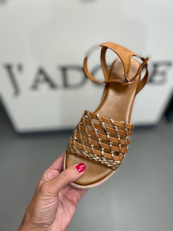 Tan Weave Leather Sandal