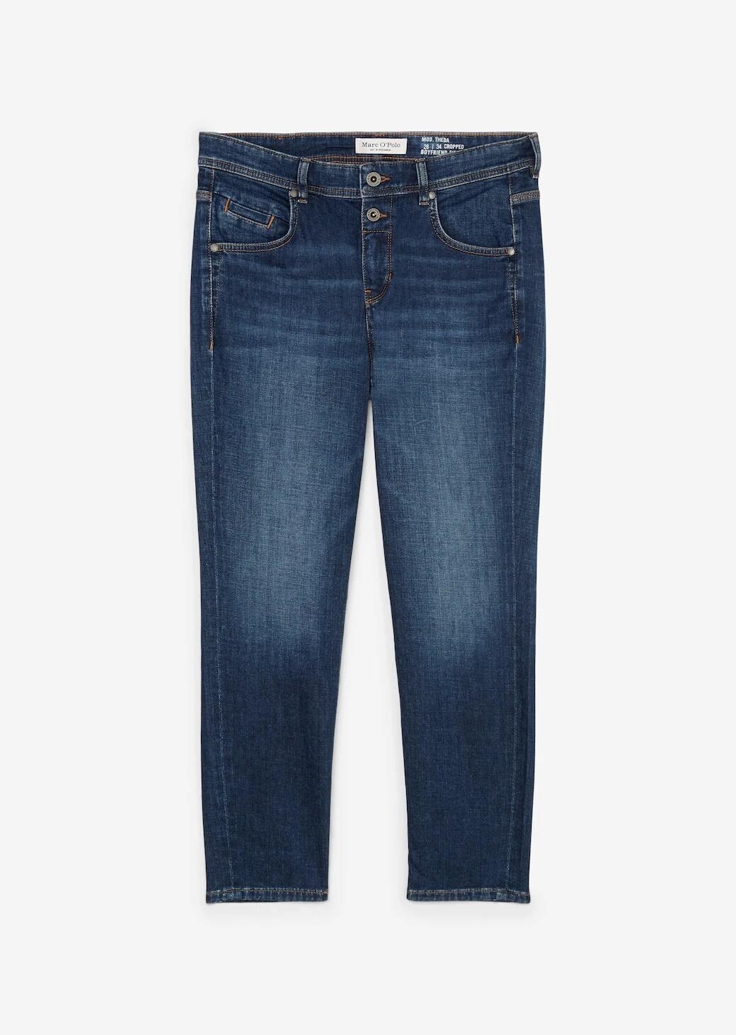 Theda Boyfriend Dark Blue Jeans