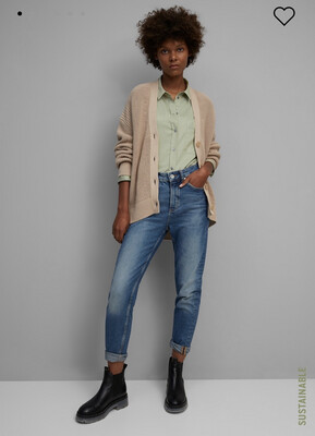 Washed Spearmint Long Sleeve Blouse