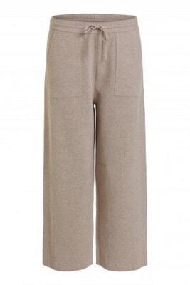 Light Stone Knitted Trousers