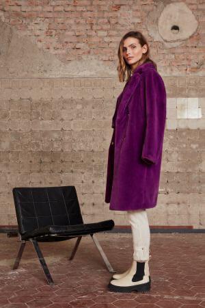 Grape Juice Fur Coat