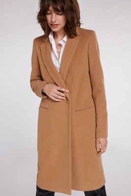 Toasted Coconut Italian Wool Cashmere Blend Coat