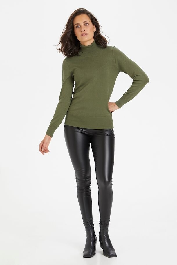Astrid Hedge Green Roll Neck