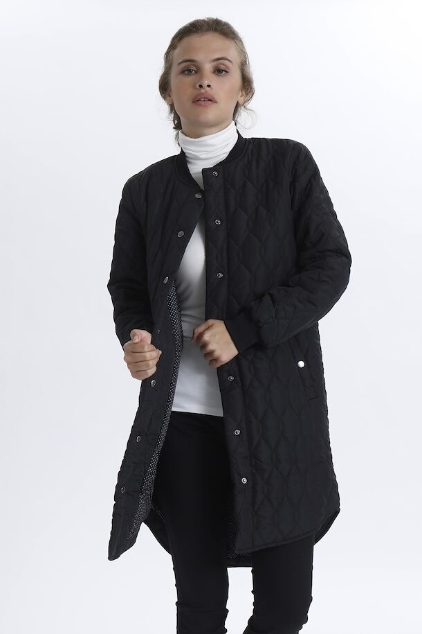 Kashally Black Quilted Coat