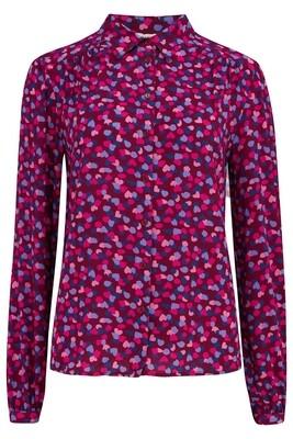 Queenie Burgundy Petal Shirt