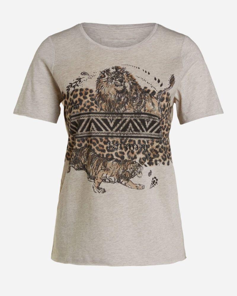 Sand Leopard Print T- Shirt
