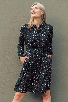 Zadie Green Star Leopard Shirt Dress