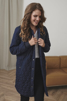 Kashally Navy Quilted Coat