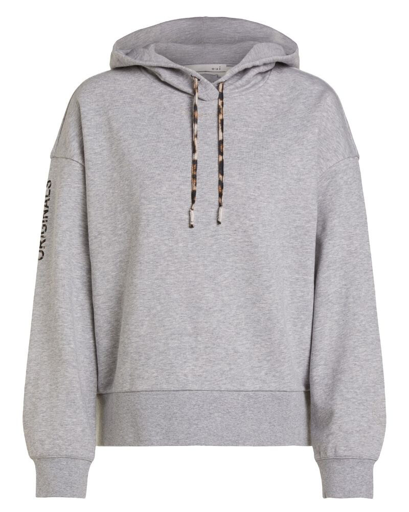 Grey Jumper With Leopard Detail