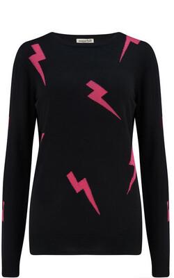 Velma Black/ Pink Lightning Strike Jumper