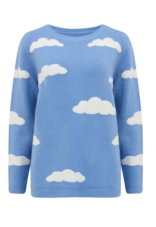Aliana Blue Fluffy Cloud Jumper
