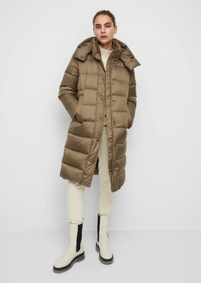 Nutshell Brown Quilted Coat