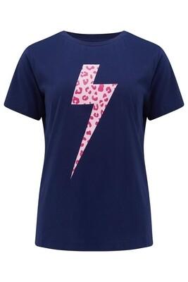 Maggie Navy Wild Lightning T- Shirt