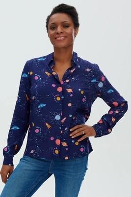 Catrina Navy UFO Space Shirt