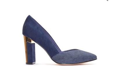 Lenza Midnight Blue Court Shoe