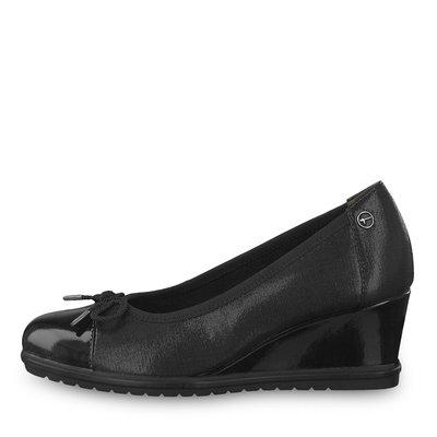 Black Wedge Shoe Tassel Detail