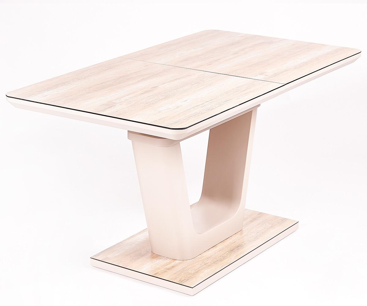 Стол Hant мат.латте/дуб коричневый (140-180)х80х76