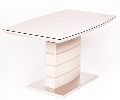 Стол Triton мат.латте/кремовый (140-180)х80х76