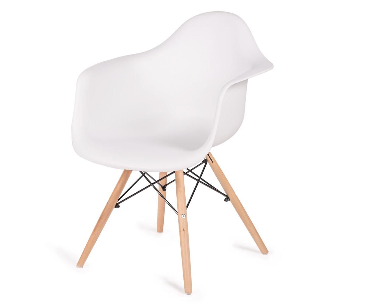 Стул-кресло Eames белый
