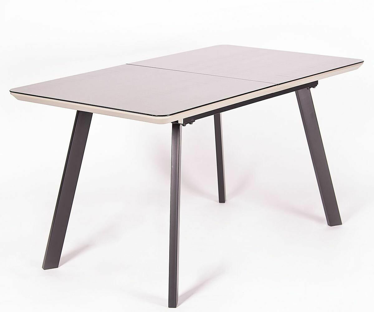 Стол Lilla мат.мокка/темно-коричневый (140-180)х80х76