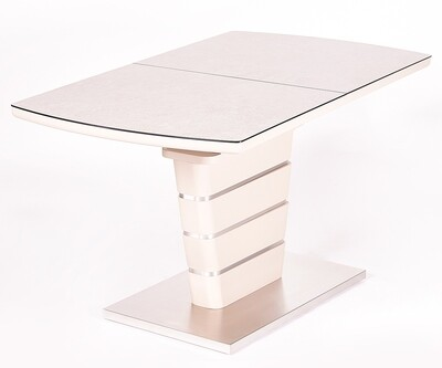 Стол Toledo мат.латте/кремовый (140-180)х80х76