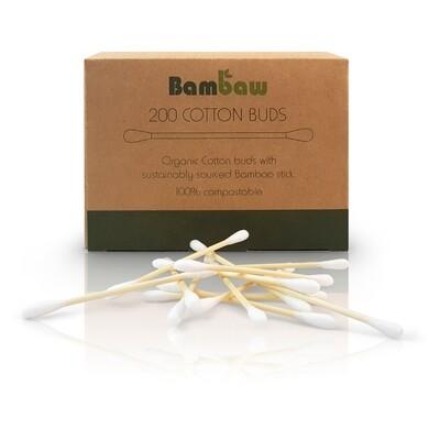 Bambaw Wattestäbchen - die umweltfreundliche Alternative (200 Stück)