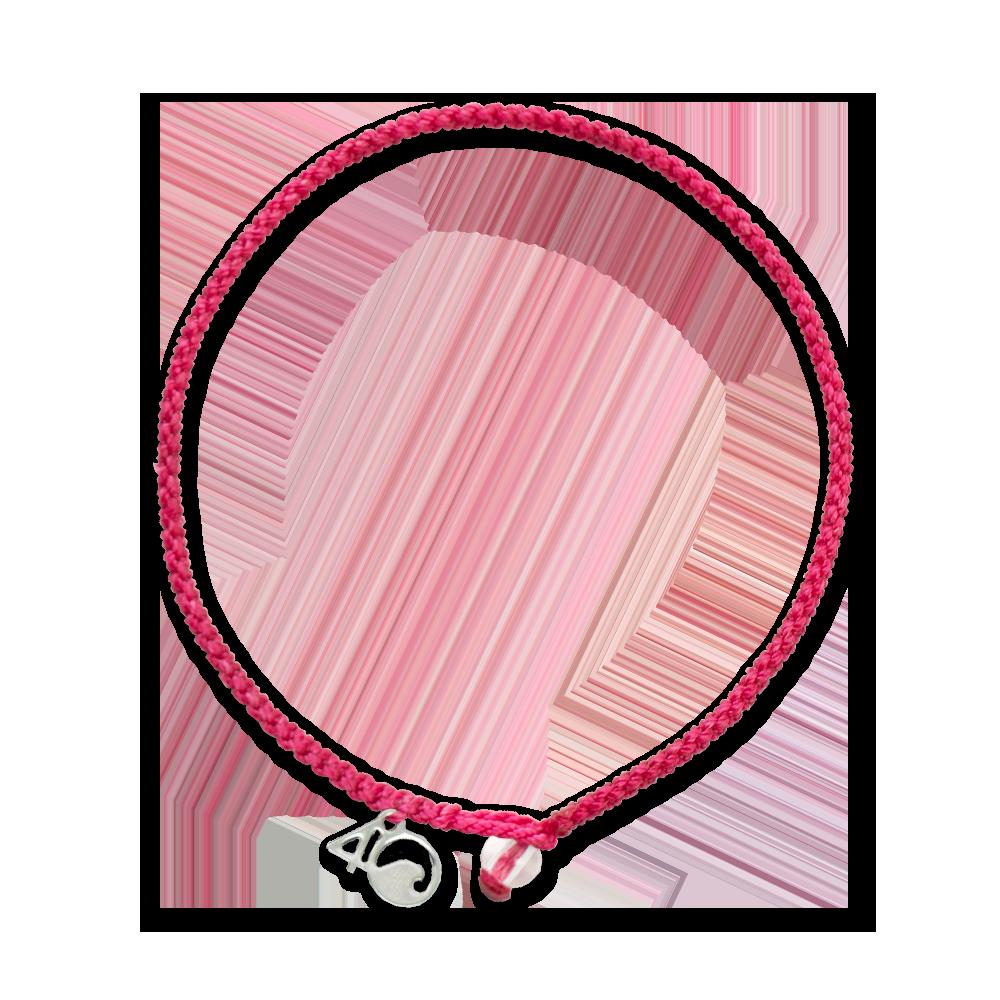 Pink Flamingo Braided Bracelet- geflochtenes Pink Flamingo Armband