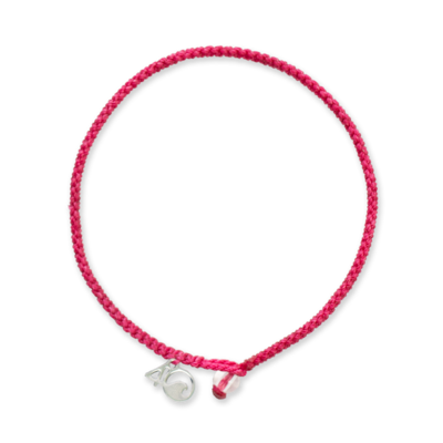 4Ocean Pink Flamingo Armband - geflochten