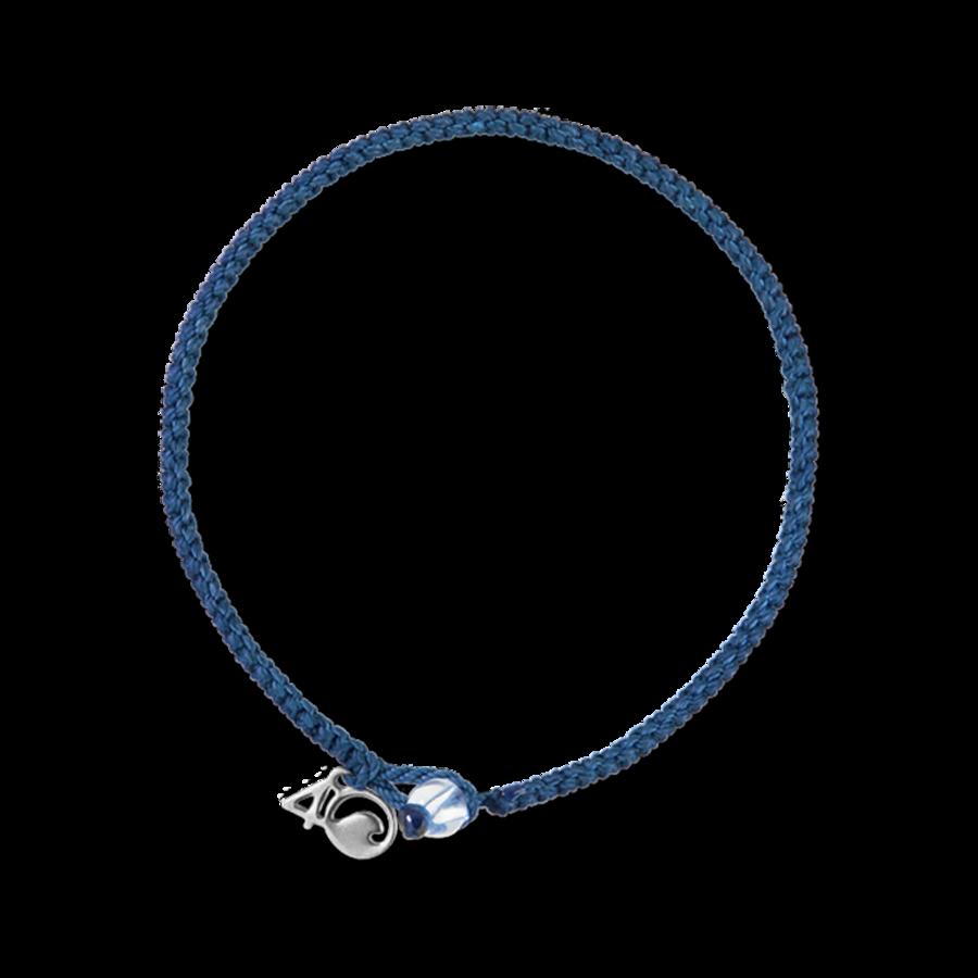 4Ocean roter Thunfisch Armband - geflochten