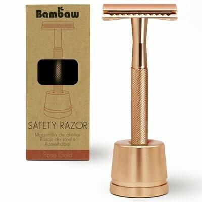 Eleganter Rasierer aus Metall Rosa - für ein nachhaltigeres Leben!