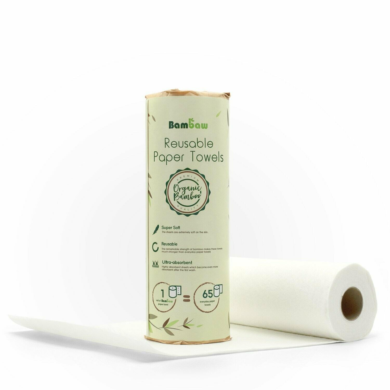 Waschbares Haushaltspapier aus Bambus - wiederverwendbar