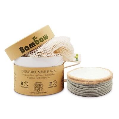 Abschminkpads Waschbar [10er Set] für die hautschonende Reinigung - Nachhaltige Abschminktücher & Make Up Remover