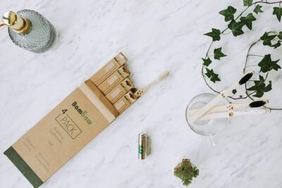 4 Bambus Zahnbürsten für ein nachhaltigeres und gesünderes Leben