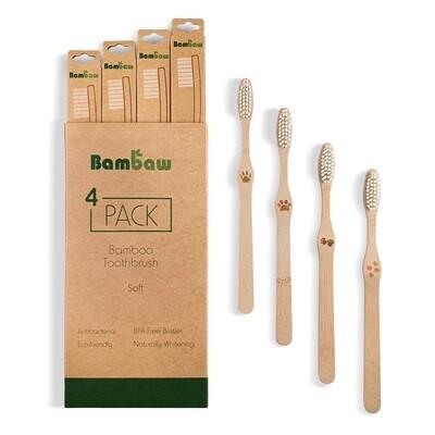 Biologische Zahnbürste aus Bambus Soft (4Stk.)