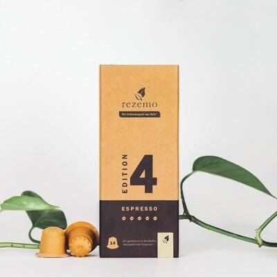 Nachhaltige Kaffeekapseln für Nespresso Maschinen - Edition 4 Espresso sehr stark