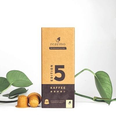 Nachhaltige Kaffeekapseln für Nespresso Maschinen - Edition 5 Lungo kräftig und harmonisch