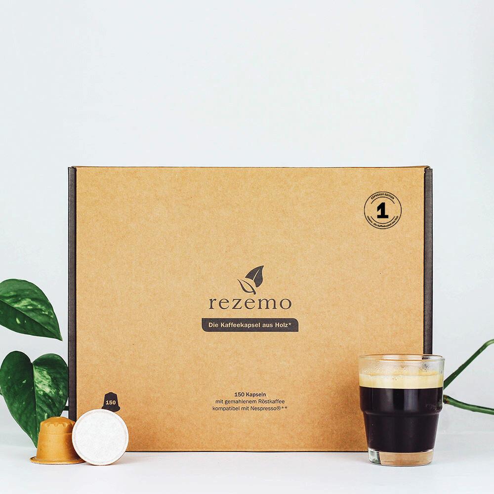 Nachhaltige Kaffeekapseln (150 Stk.) für Nespresso Maschinen - Edition 1 Espresso