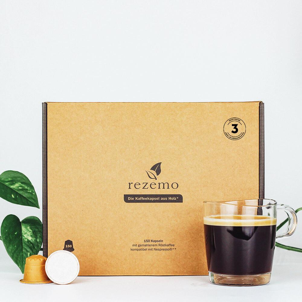 Nachhaltige Kaffeekapseln (150 Stk.) für Nespresso Maschinen - Edition 3 Decaf