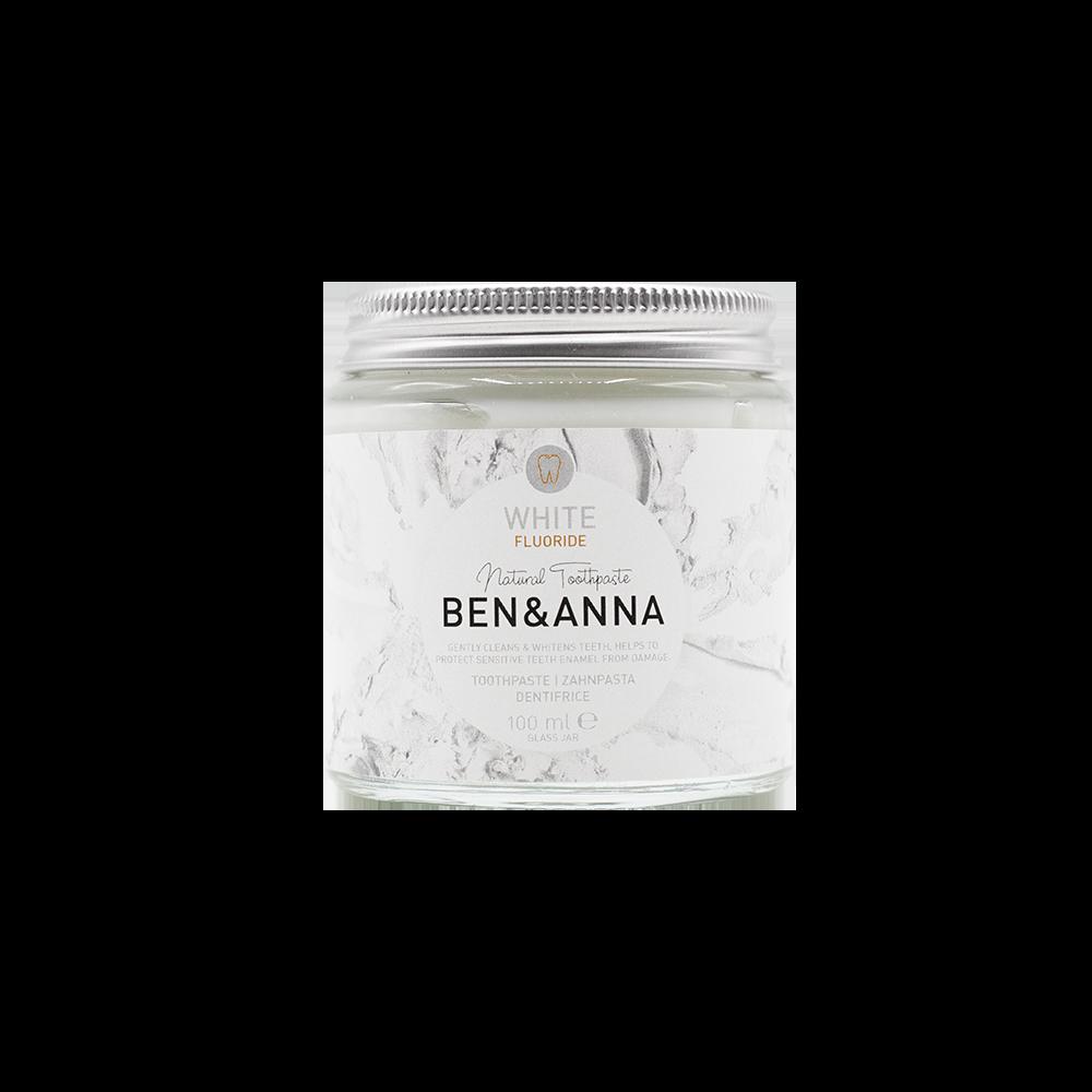 Vegane BEN & ANNA Zahnpasta – White mit Fluorid