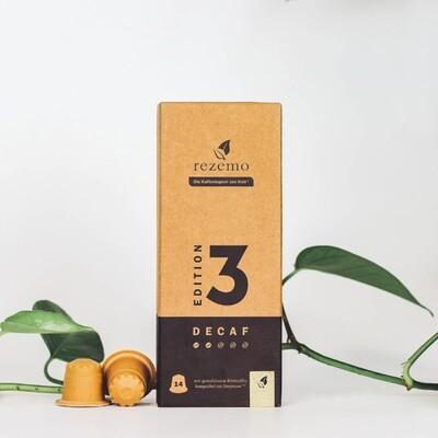 Nachhaltige Kaffeekapseln für Nespresso Maschinen - Edition 3 Decaf