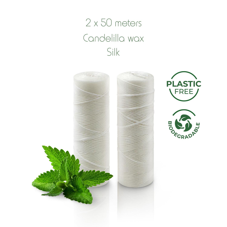 Zahnseide aus Naturseide Nachfüllpack (2x 50m) Silk
