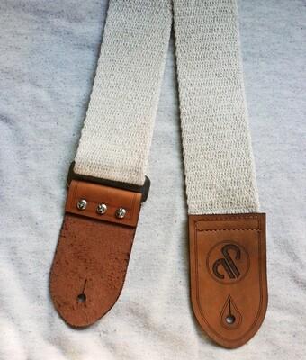 aPurla Handmade Hemp Guitar Strap - Plain