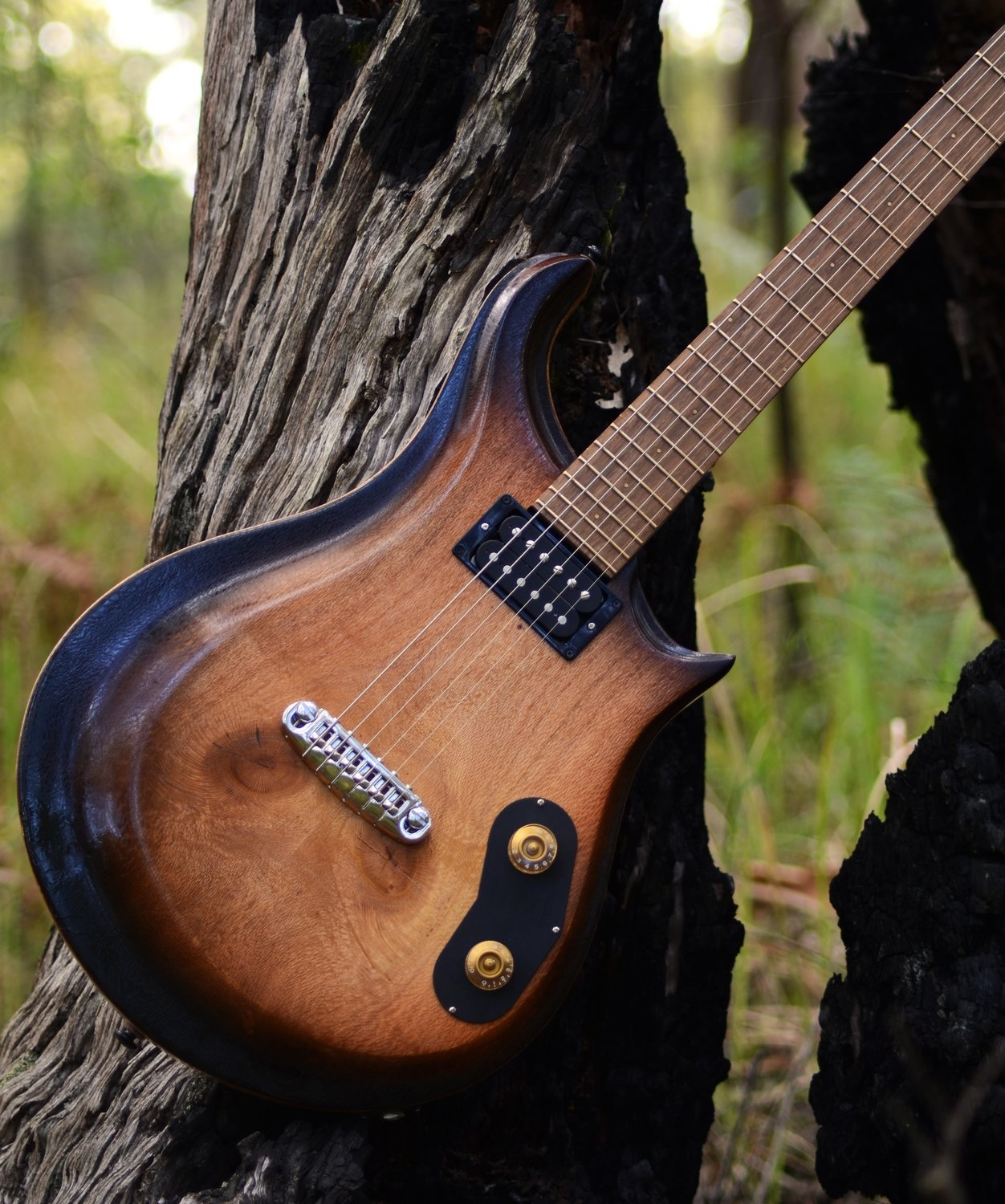 aPurla Tobacco Burst Stop Tail Electric Guitar