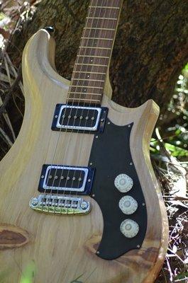 aPurla Natural Bunya pine Stop Tail Electric Guitar