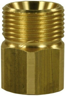 Male to Male Brass Quick Screw Nipple - M22 M to 3/8