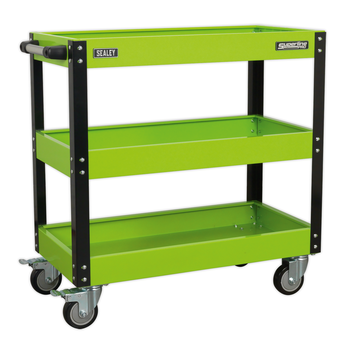 SEALEY Trolley 3 Level Heavy Duty Hi-Vis Green