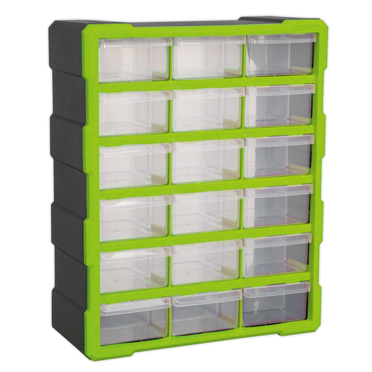 SEALEY Cabinet Box 18 Drawer Hi-Vis Green