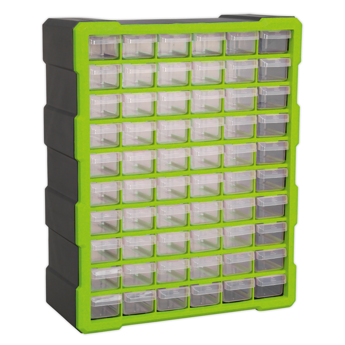 SEALEY Cabinet Box 60 Drawer Hi-Vis Green
