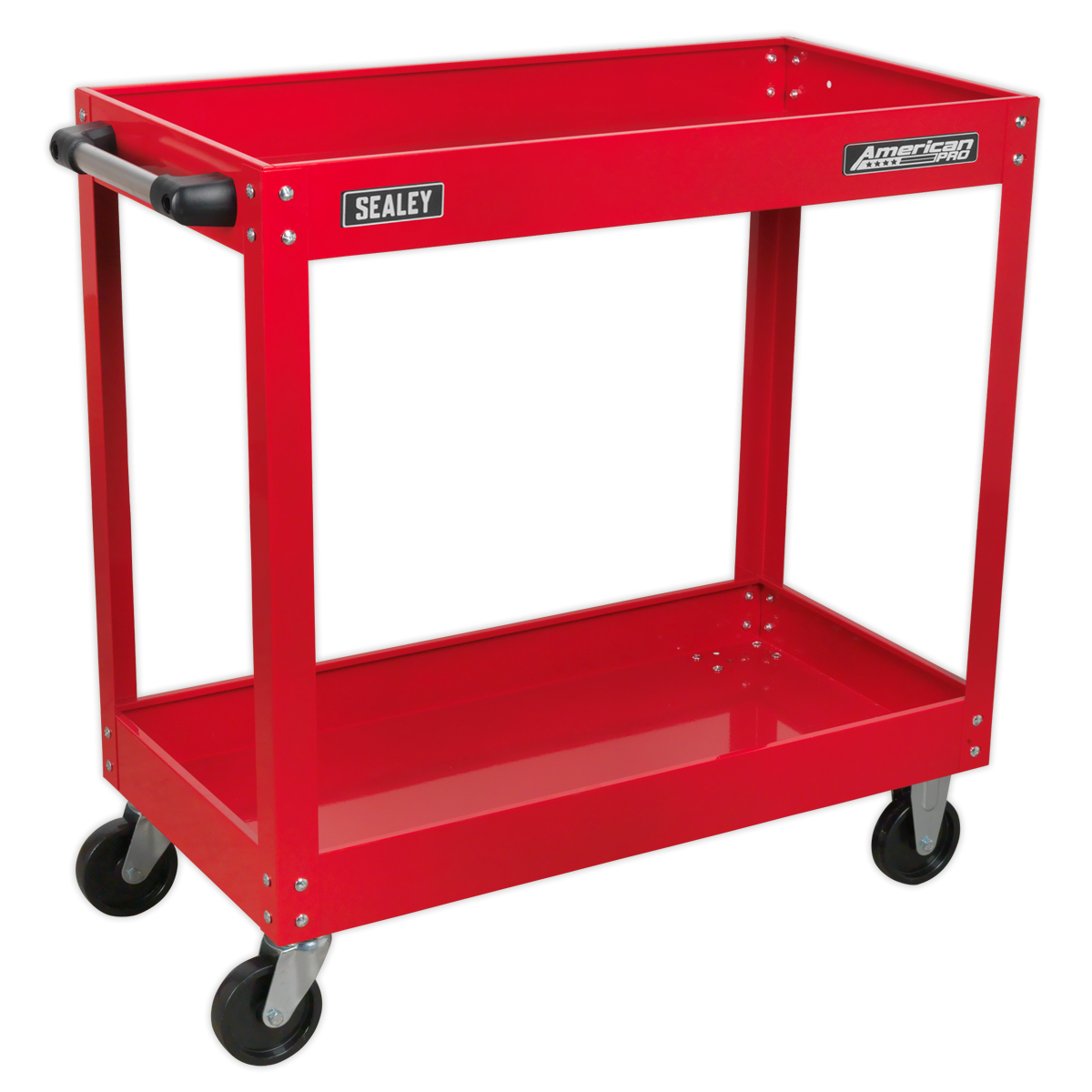 SEALEY Workshop Trolley 2 Level Heavy Duty Red